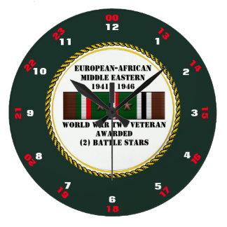 2戦いの星WWIIの退役軍人 ラージ壁時計