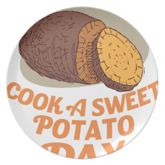 2月第22 -サツマイモ日を調理して下さい プレート