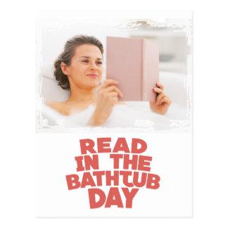 2月第9 -浴槽日を読取って下さい ポストカード