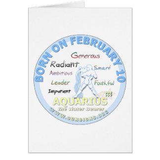 2月10日の誕生日-アクエリアス カード