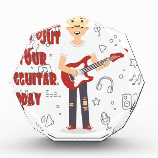 2月11日-あなたのギター日を出して下さい 表彰盾