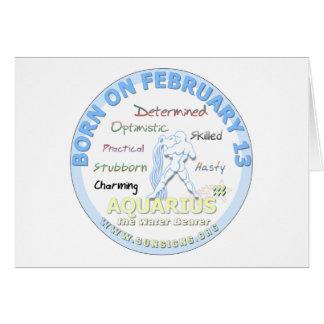 2月13日の誕生日-アクエリアス カード