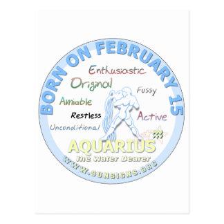 2月15日の誕生日-アクエリアス ポストカード