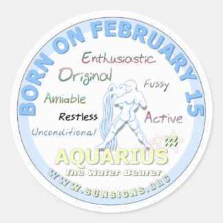 2月15日の誕生日-アクエリアス ラウンドシール