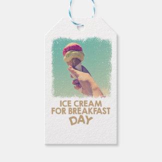2月18日-朝食日のためのアイスクリームを食べて下さい ギフトタグ