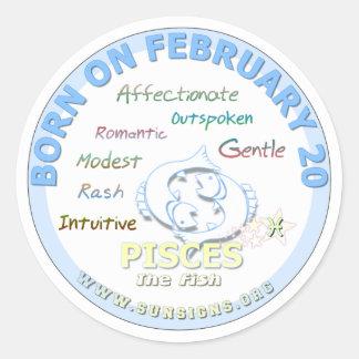 2月20日の誕生日-魚類 ラウンドシール