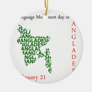 2月21日にバングラデシュの言語動き日 セラミックオーナメント