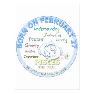 2月27日の誕生日-魚類 ポストカード