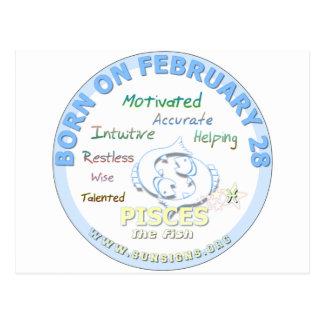 2月28日の誕生日-魚類 ポストカード