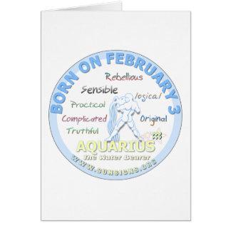 2月3日の誕生日-アクエリアス カード