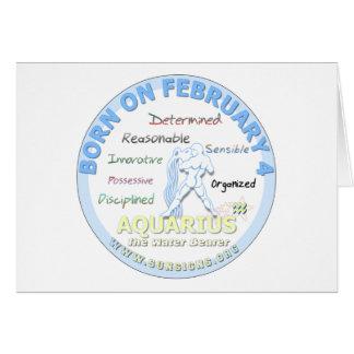 2月4日の誕生日-アクエリアス カード