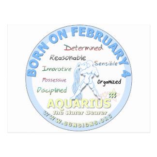 2月4日の誕生日-アクエリアス ポストカード
