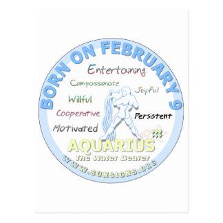 2月9日の誕生日-アクエリアス ポストカード