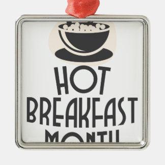 2月-熱い朝食月-感謝日 メタルオーナメント