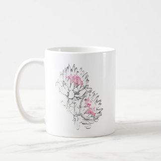 2本のプロテアのマグ コーヒーマグカップ