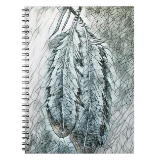 2本のモザイクワシの羽 ノートブック