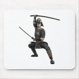 2本の剣を持つ武士は前部に見を用意します マウスパッド