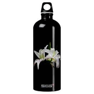 2本の敏感で白いユリ ウォーターボトル