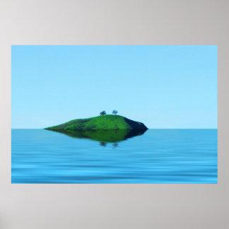 2本の木の島ポスター ポスター