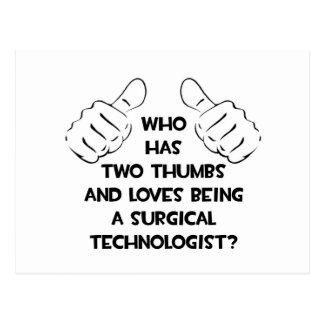 2本の親指。 外科科学技術者 ポストカード