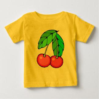 2枚のさくらんぼのTシャツ、フード付きスウェットシャツ、ギフト ベビーTシャツ