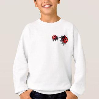 2枚の小さいてんとう虫のワイシャツ スウェットシャツ
