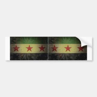 2汚いシリアの旗 バンパーステッカー