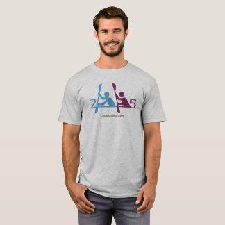 2漕ぐ5つの灰色のTシャツ Tシャツ