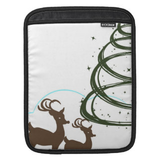 2牧草を食べるReinder iPadスリーブ