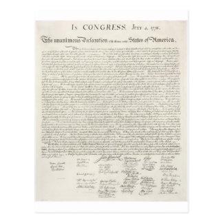 2独立宣言 葉書き