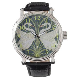 2白鳥のヴィンテージアールヌーボー 腕時計