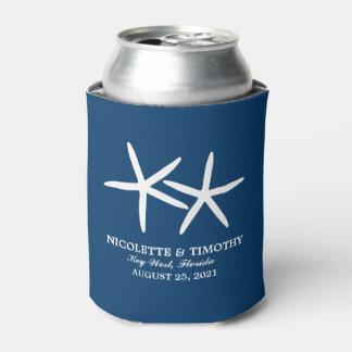 2細いヒトデ|の濃紺の結婚式 缶クーラー