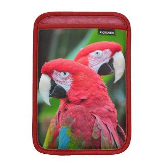 2羽の多彩なオウムのipadの小型袖 iPad miniスリーブ