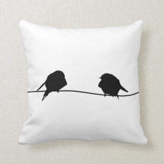 2羽の小さい鳥/スマイリーフェイス クッション