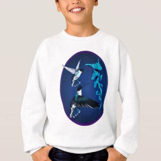2羽の青いハチドリの楕円形のワイシャツ スウェットシャツ