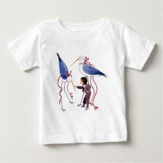 2羽の鳥 ベビーTシャツ