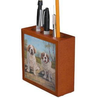 2聖者Bernarを絵を描いている机のオーガナイザーアンヘイェズ ペンスタンド