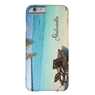 2脚の椅子の電話箱とのリラックスさせるなビーチ場面 BARELY THERE iPhone 6 ケース