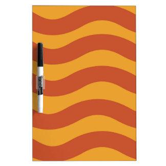 2調子のオレンジ波状は縞で飾ります ホワイトボード