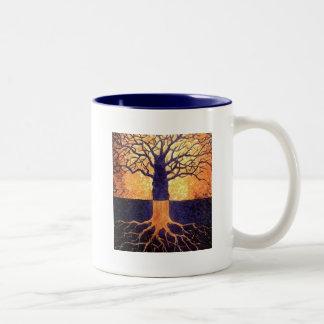2調子のマグ生命の樹 ツートーンマグカップ