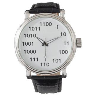 2進数の腕時計 腕時計