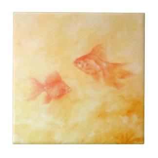 2金魚 タイル