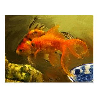 2金魚 ポストカード