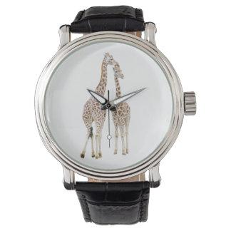 2頭のキリン 腕時計