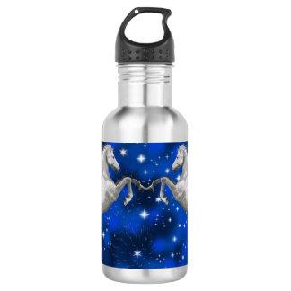 2頭の白馬-星 ウォーターボトル