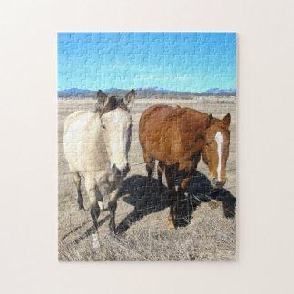 2頭の馬のパズル ジグソーパズル