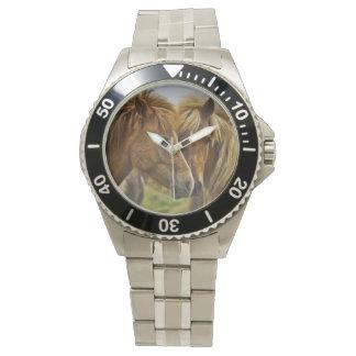 2頭の馬のポートレート 腕時計