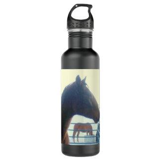 2頭の馬の自由のボトル ウォーターボトル
