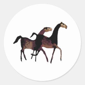 2頭の馬 ラウンドシール