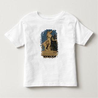 2頭の「泥灰質の馬」のoriginallの1つのレプリカ トドラーTシャツ